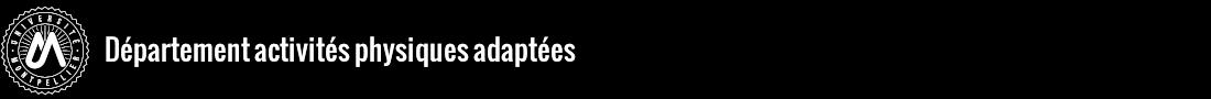 Département Activités Physiques Adaptées Logo